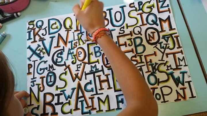 Gioco di composizione con le lettere, classe quinta